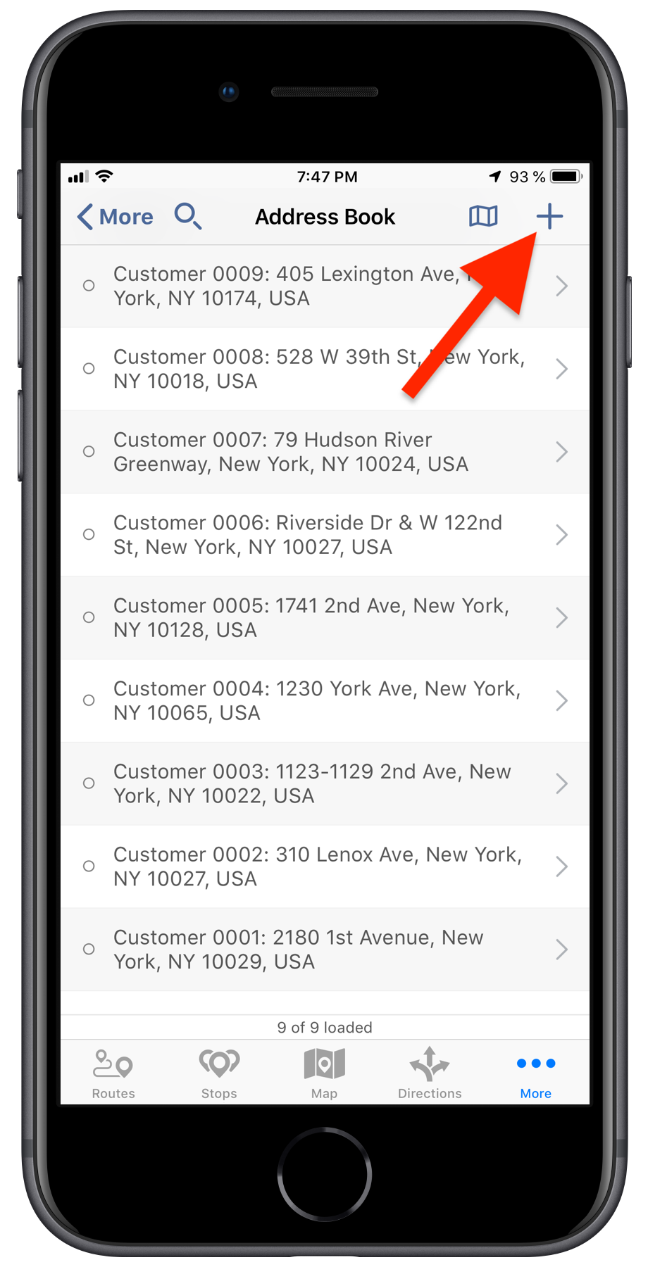 Adding New Contacts and Addresses to Your Route4Me Address Book Using the Route4Me iPhone App