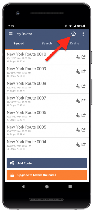 Using Route4Me's Android Route Planner Without Registration (Mobile Free Plan)