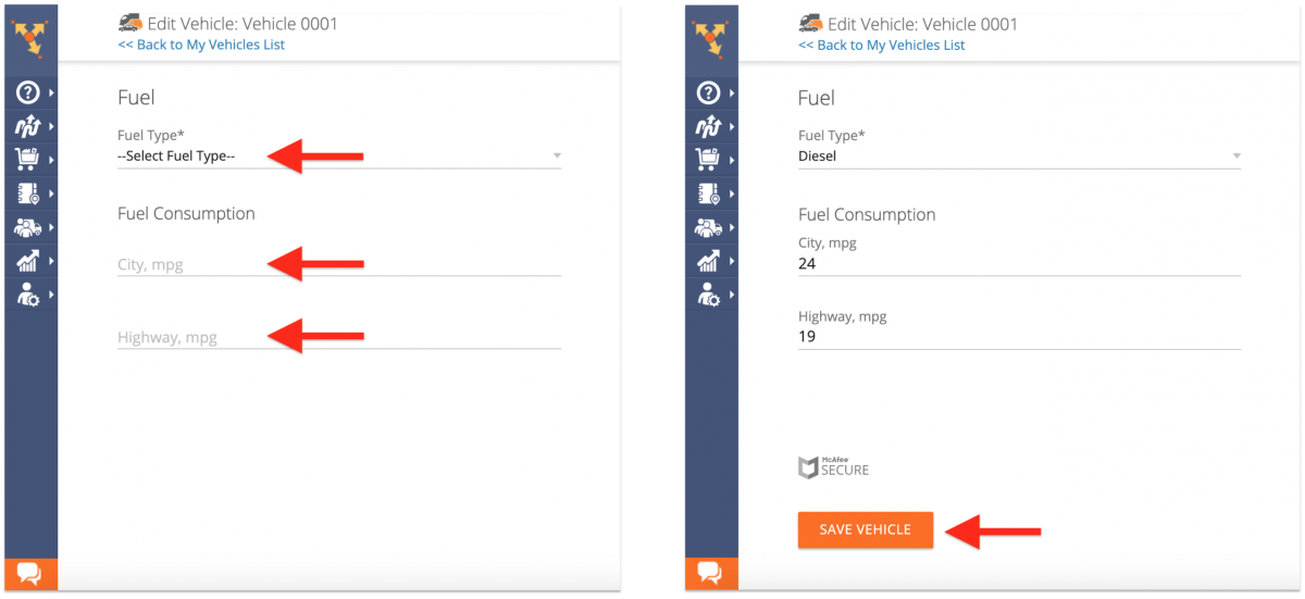 Adjusting the Fuel Consumption Settings of Your Vehicles Fleet on the Route4Me Web Platform