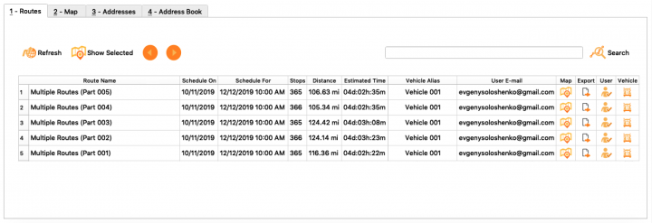 Planning Routes with the Multiple Drivers Route Optimization Using the Route4Me Enterprise Architect