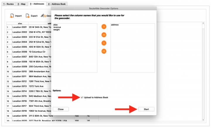 Geocoding Addresses Using the Route4Me Enterprise Architect (File Import)