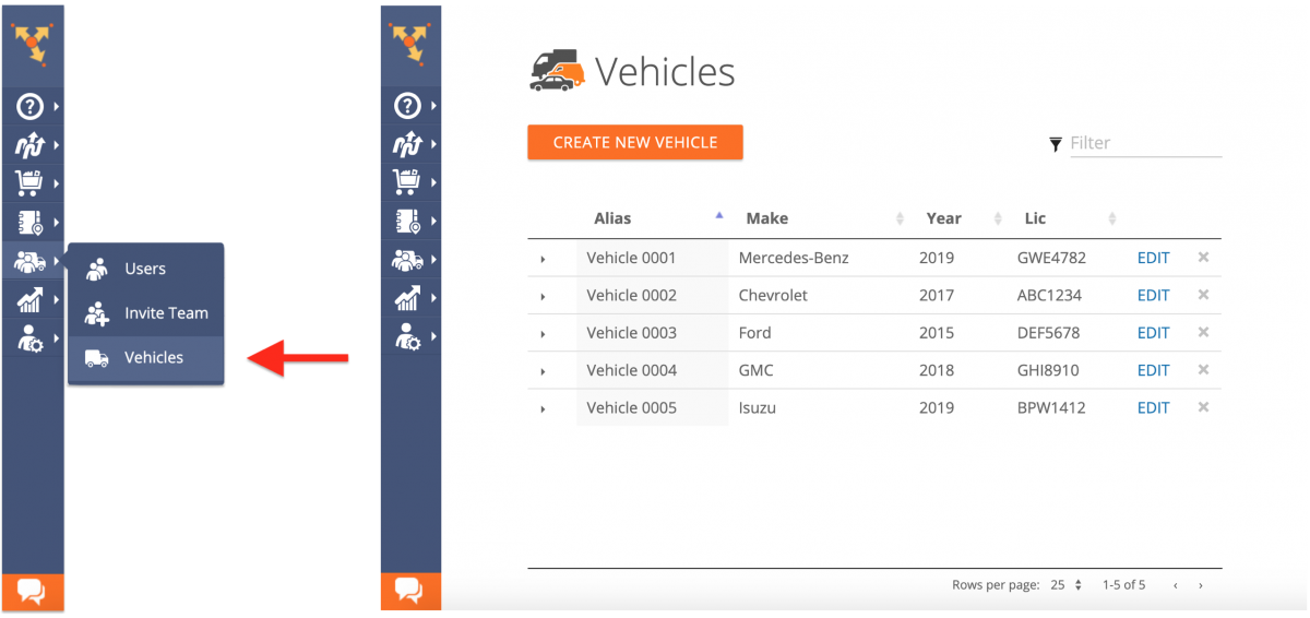 Viewing and Managing Your Fleet of Vehicles on the Route4Me Web Platform