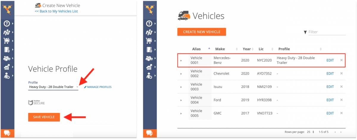 Route4Me Commercial Routing - Creating Fleet Vehicles with Commercial Parameters Using the Route4Me Web Platform