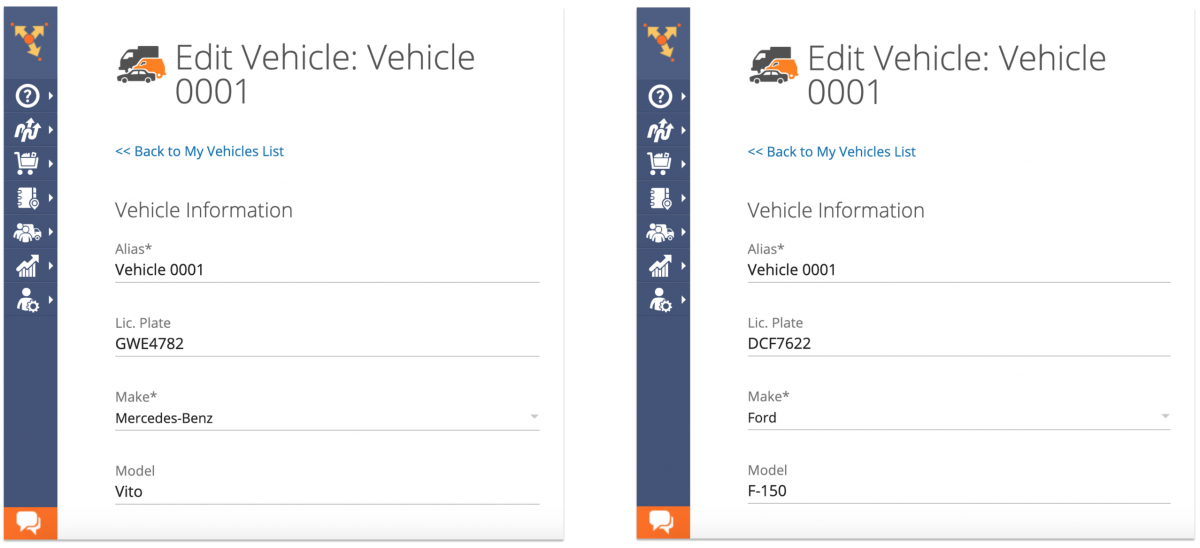 Editing Your Fleet Vehicles on the Route4Me Web Platform