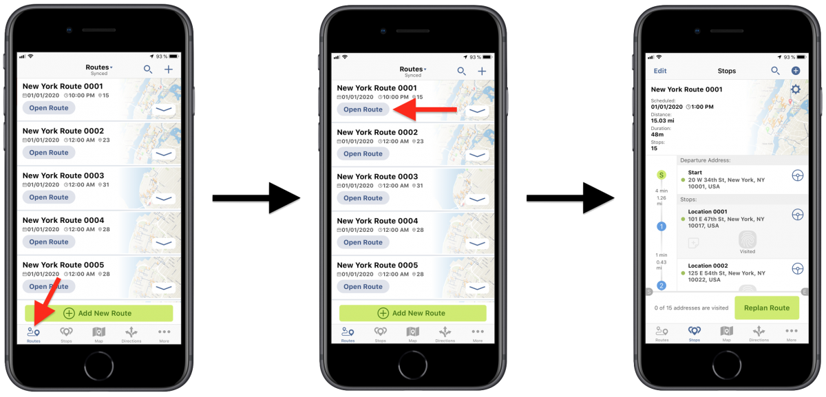 iOS Custom Data – Viewing Custom Data Attached to Route Stops Using Route4Me's iPhone Route Planner
