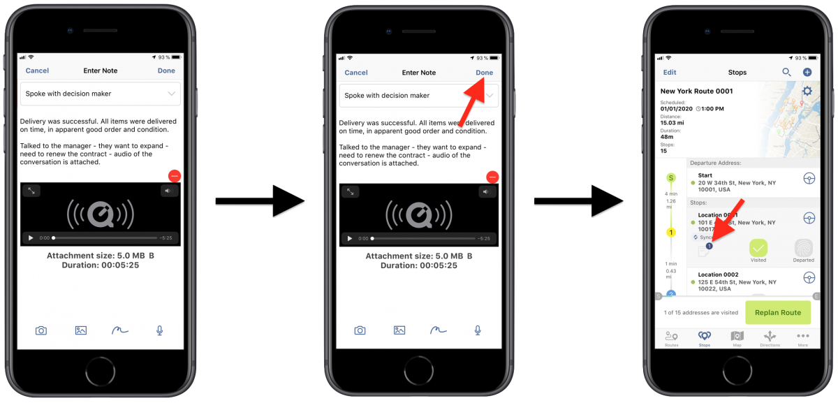 Sound Attachments - Attaching Audio Recordings to Your Route Destinations Using Route4Me's iPhone Route Planner