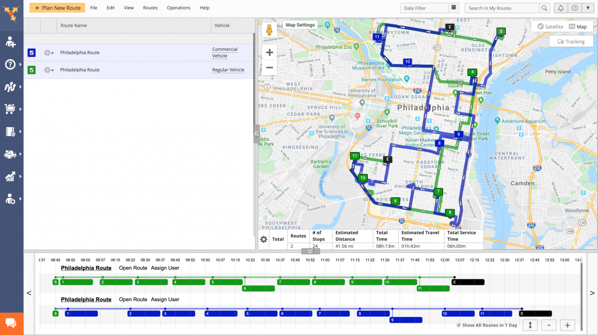 Commercial Vehicle Routing vs Regular Vehicle Routing (Examples) - Route4Me Web Platform