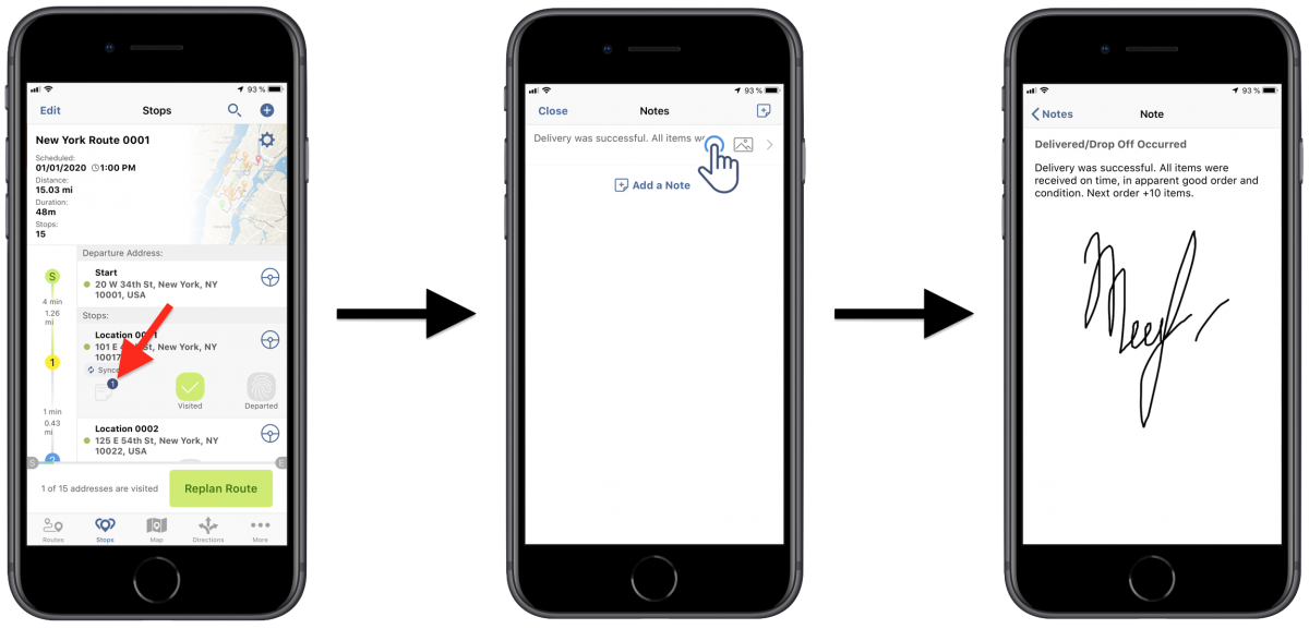 Signature Capture - Collecting Customer Signatures Using Route4Me's iPhone Route Planner