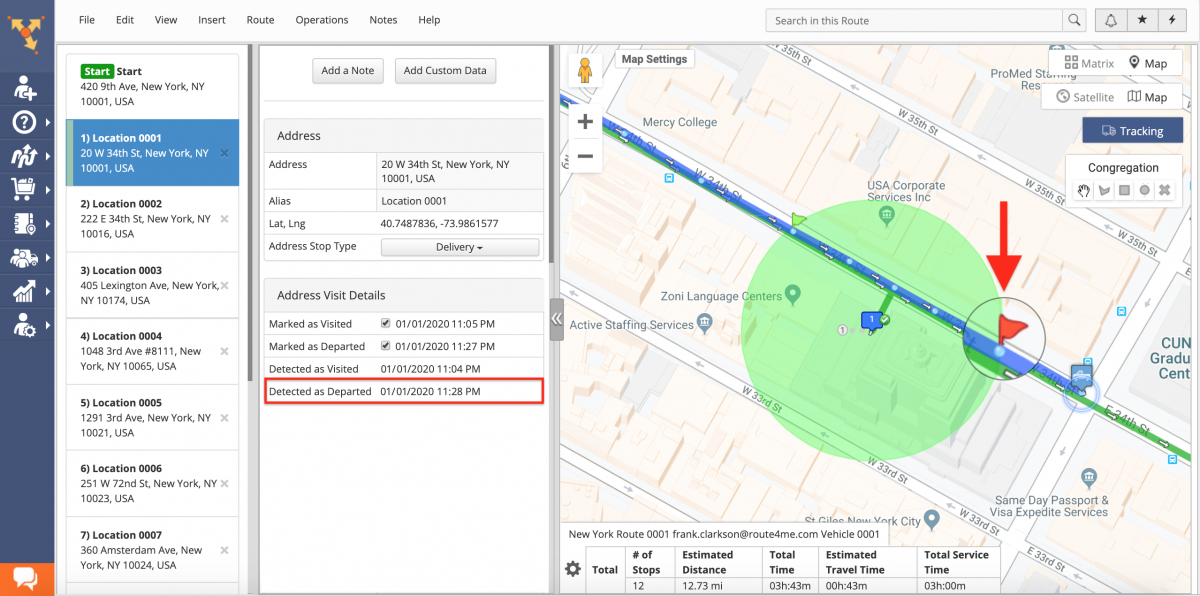 The Difference Between Geofence Detected and Manually Marked Visitation and Departure Timestamps