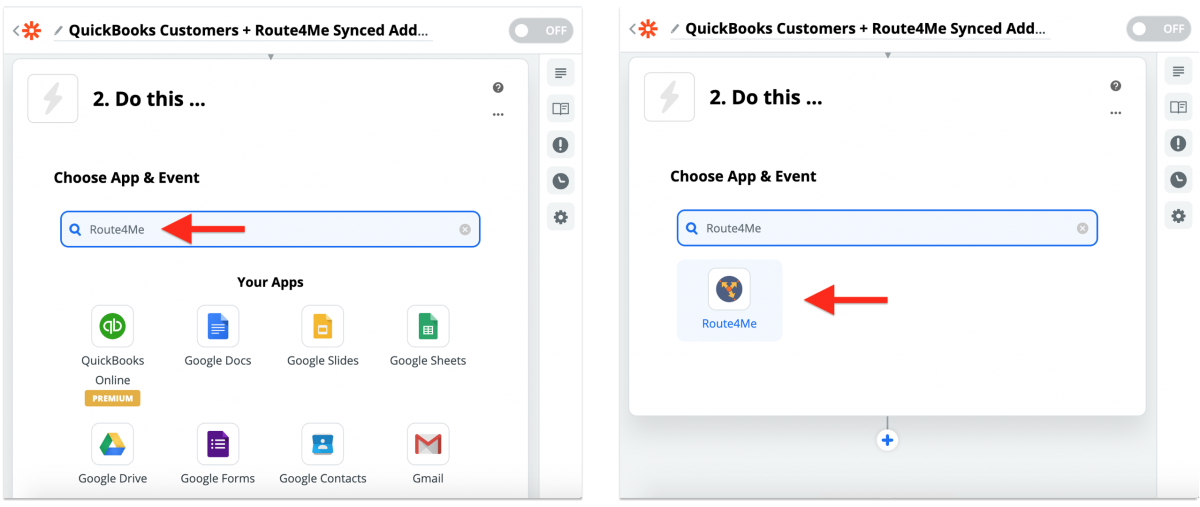 QuickBooks Integration With Route4Me via Zapier - Synchronizing QuickBooks Customers With the Route4Me Synced Address Book