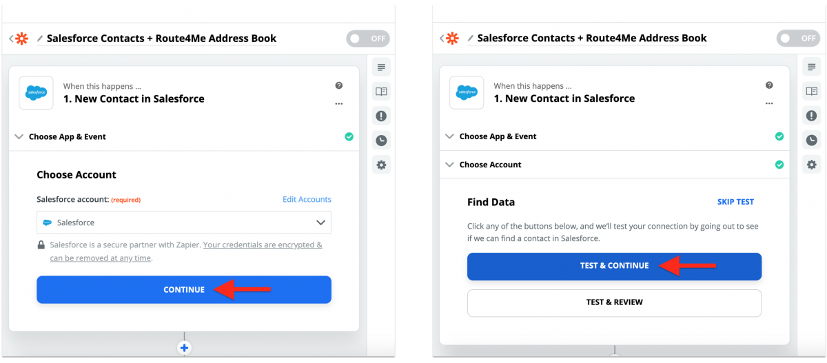 Salesforce Integration With Route4Me via Zapier - Synchronizing Salesforce Contacts With the Route4Me Synced Address Book