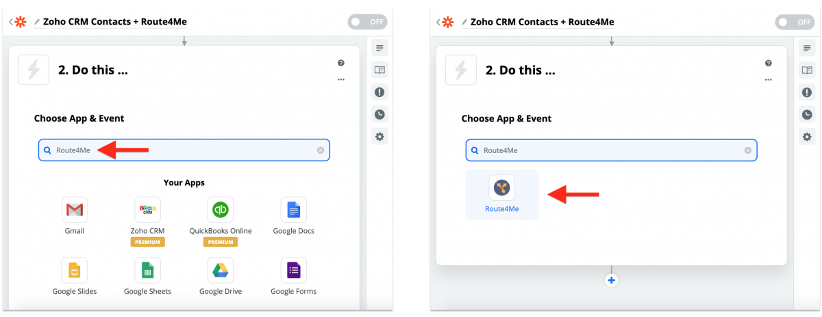 Zoho CRM Integration With Route4Me via Zapier - Synchronizing Zoho CRM Contacts With the Route4Me Synced Address Book