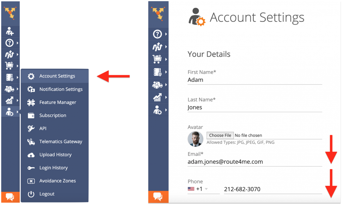 Account Preferences - Adjusting Your Route4Me Web Account Preferences (Distance Units, Fuel Consumption Units, Language, and Time Zone)