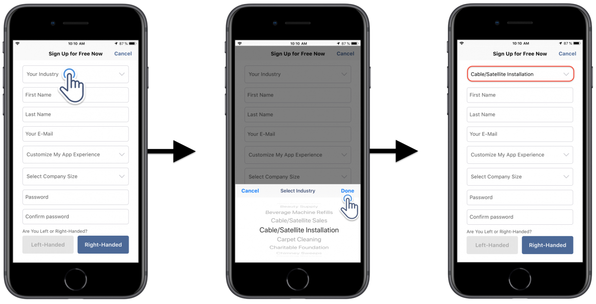 Registering for a New Route4Me Mobile Account Using Route4Me's iOS Route Planner on Your iPhone (Getting a Subscription Plan)