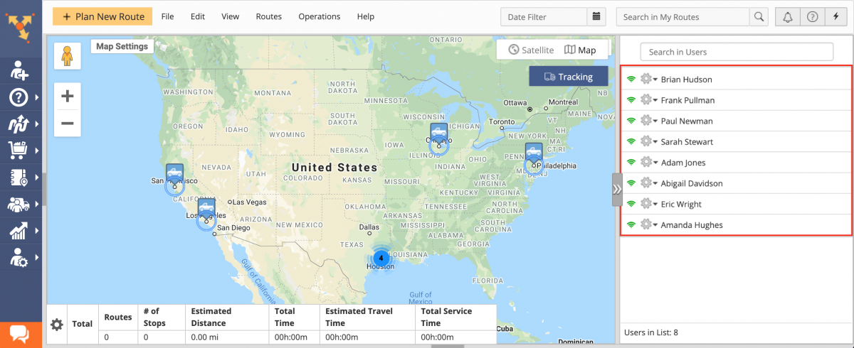 User Clustering – Using the Map Clustering When Tracking Multiple Team Members on the Interactive Map in Near Real-Time