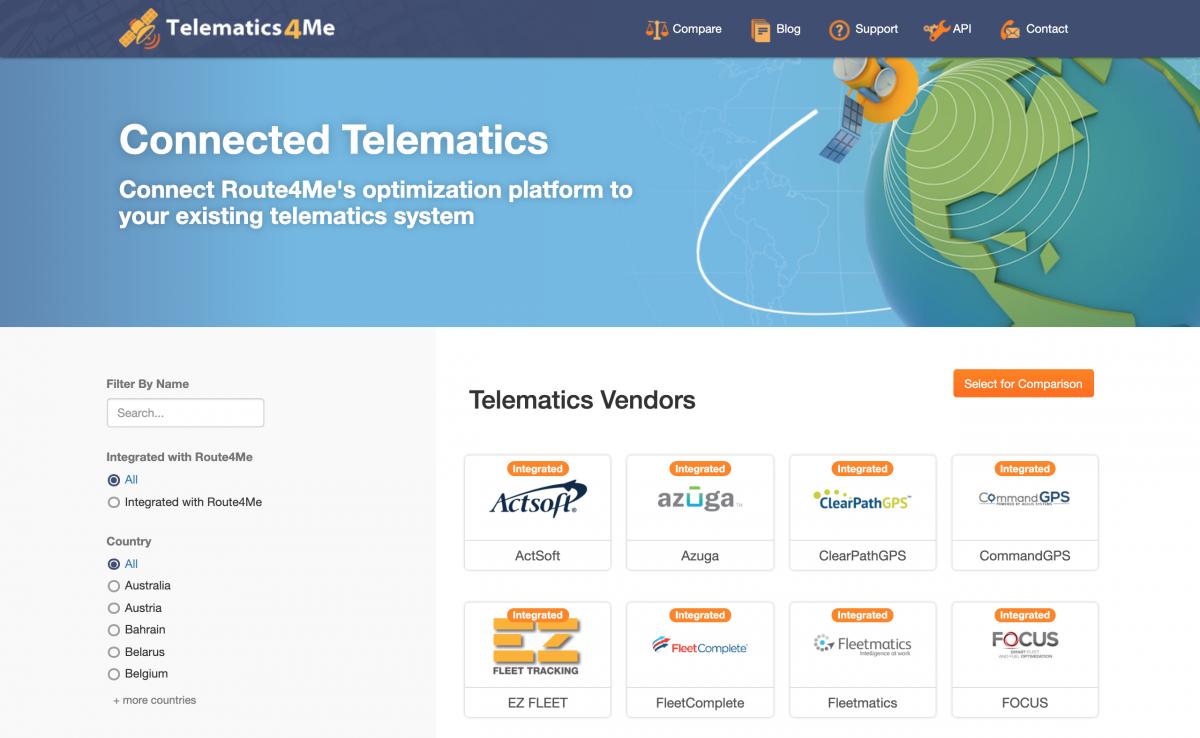 Requesting Integration with Telematics Vendors onTelematics4Me