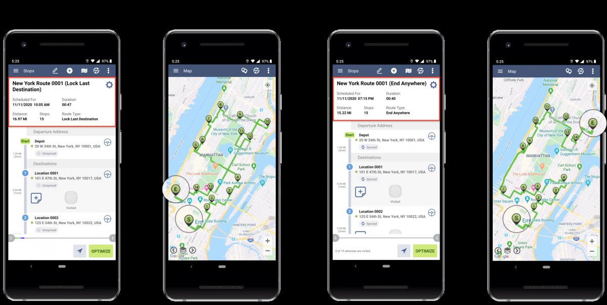 Android Lock Last Destination Optimization - Optimizing Routes With the Lock Last Destination Optimization Using Route4Me's Android Route Planner