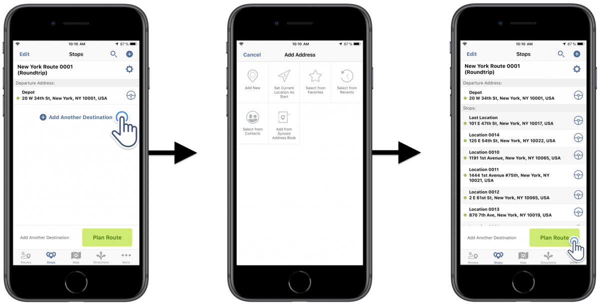 iOS Roundtrip Optimization - Optimizing Routes With the Roundtrip Optimization Using Route4Me's iPhone Route Planner