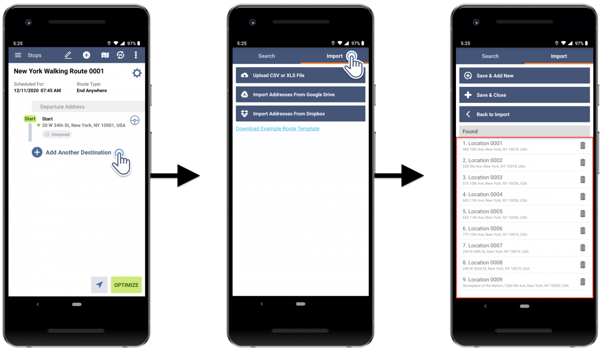 Android Walking Optimization - Optimizing Routes with Walking Directions Using Route4Me's Android Route Planner