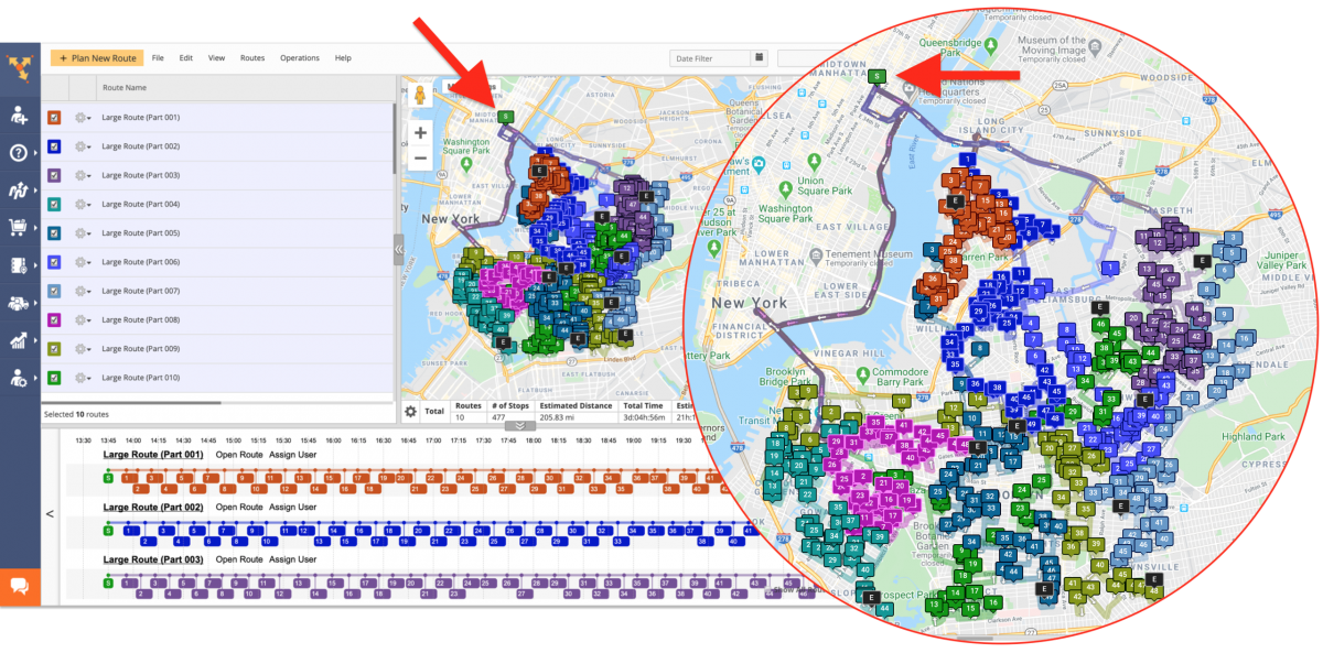 Large Routes Optimization - Planning Routes With Thousands of Addresses Using Route4Me's Address Territories