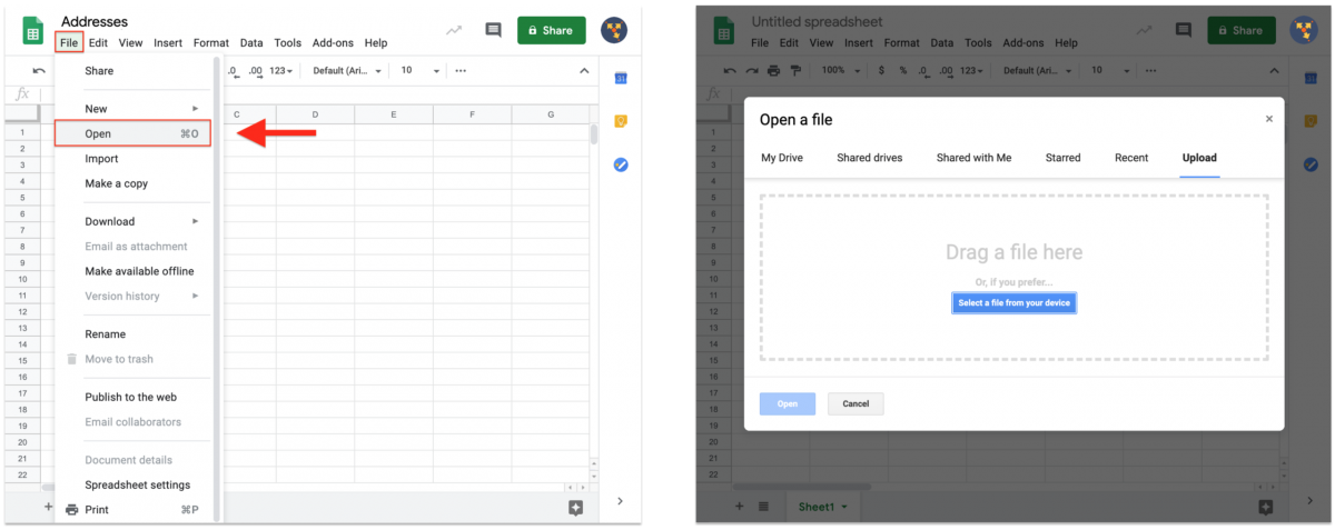 How to Make Your Upload Files Smaller, Convert Spreadsheets to CSV Files, and Upload Addresses Using the Territory Management Add-On