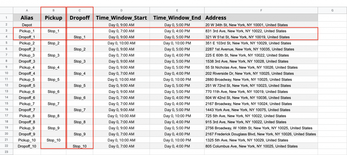 Pickup and Dropoff Route OptimizationWith Time Windows – How to Plan Routes with Pick-Up and Drop-Off Address Pairs That Have Time Windows Constraints