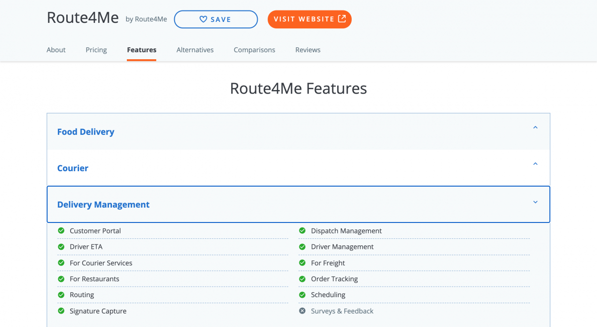 Route4Me's solutions are featured in multiple business software categories on Capterra.