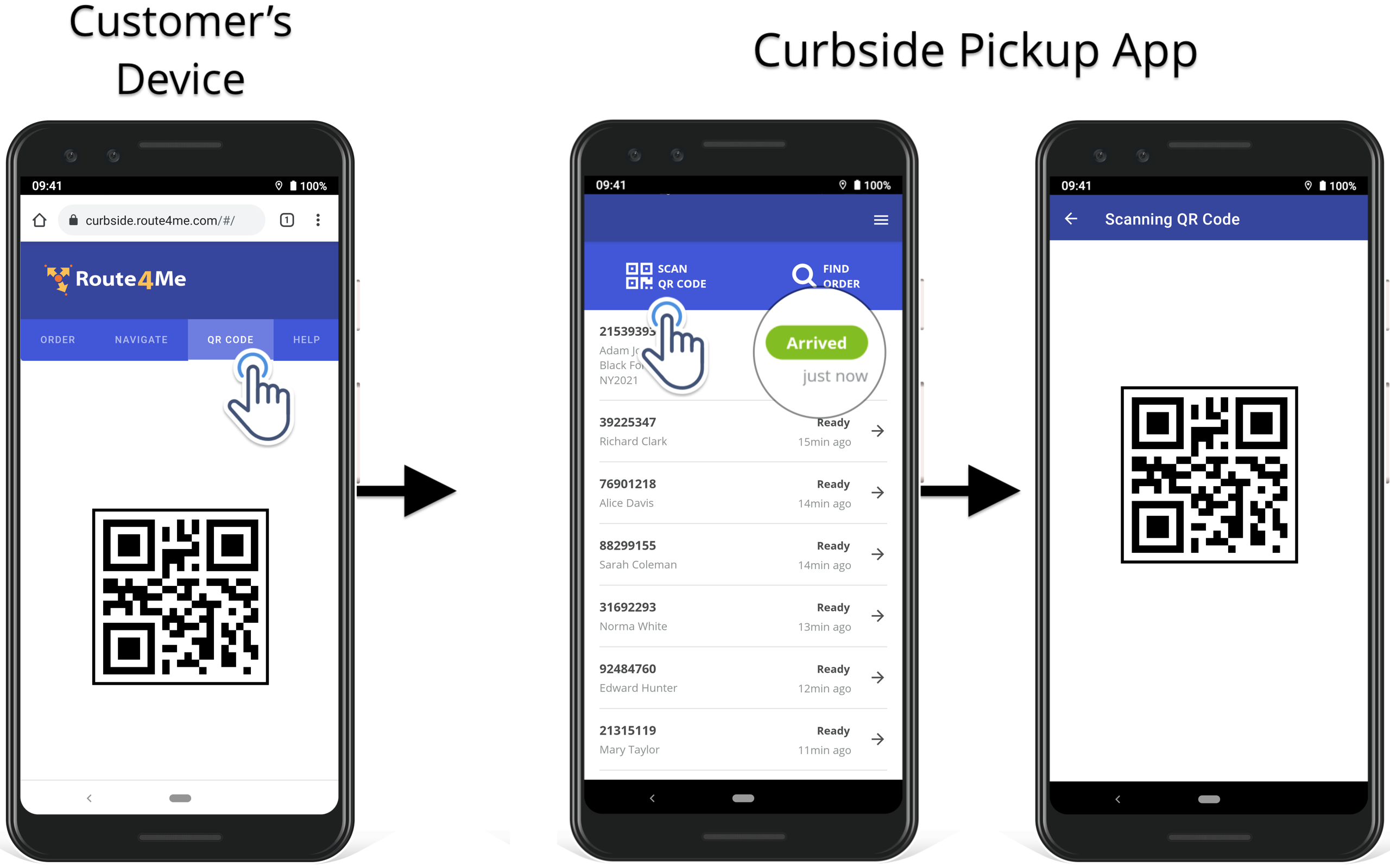 Curbside pickup app order confirmation to save time on order matching and give the right order to the right customer.