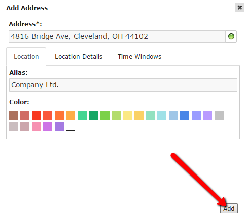 Route4Me, a route planner, allows you to add more information about addresses in the address book