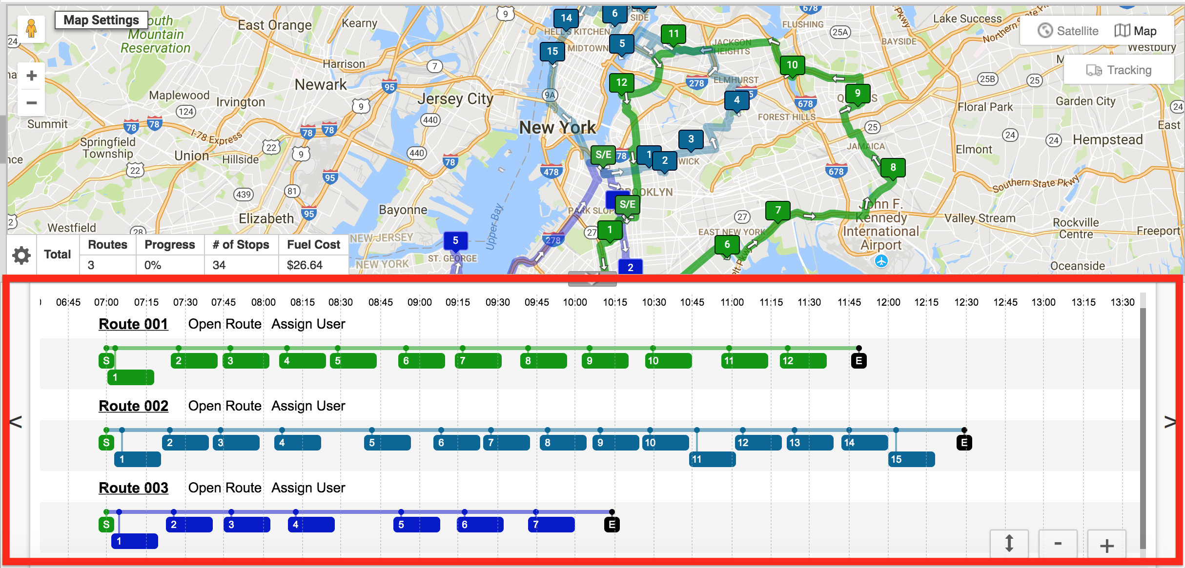 View Multiple Routes on the Map and Move Stops Between them with Route4Me