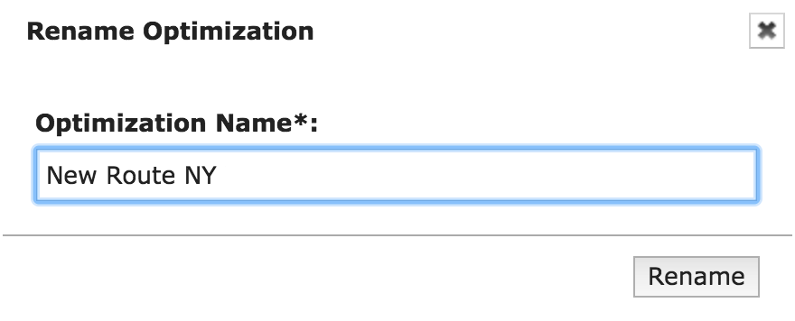 Rename any route optimization in Route4Me