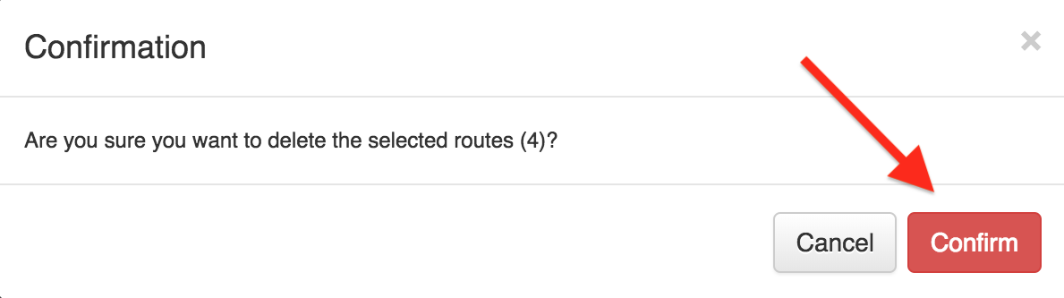 Deleting routes is easy with Route4Me