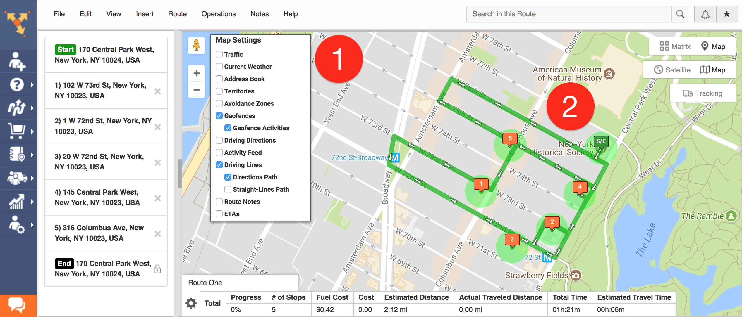 Using Route4Me's GPS tracking, you can set automatic visitation triggers with geofencing