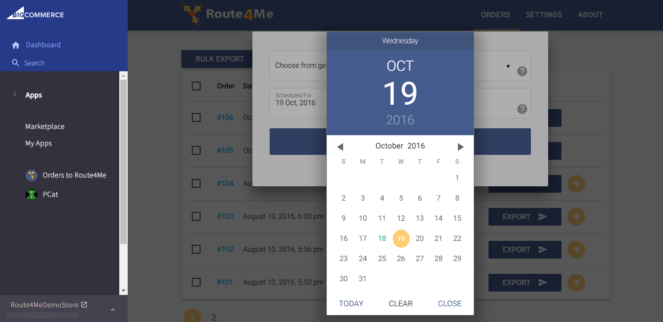 Route4Me serves as route scheduling software through its plugin for BigCommerce