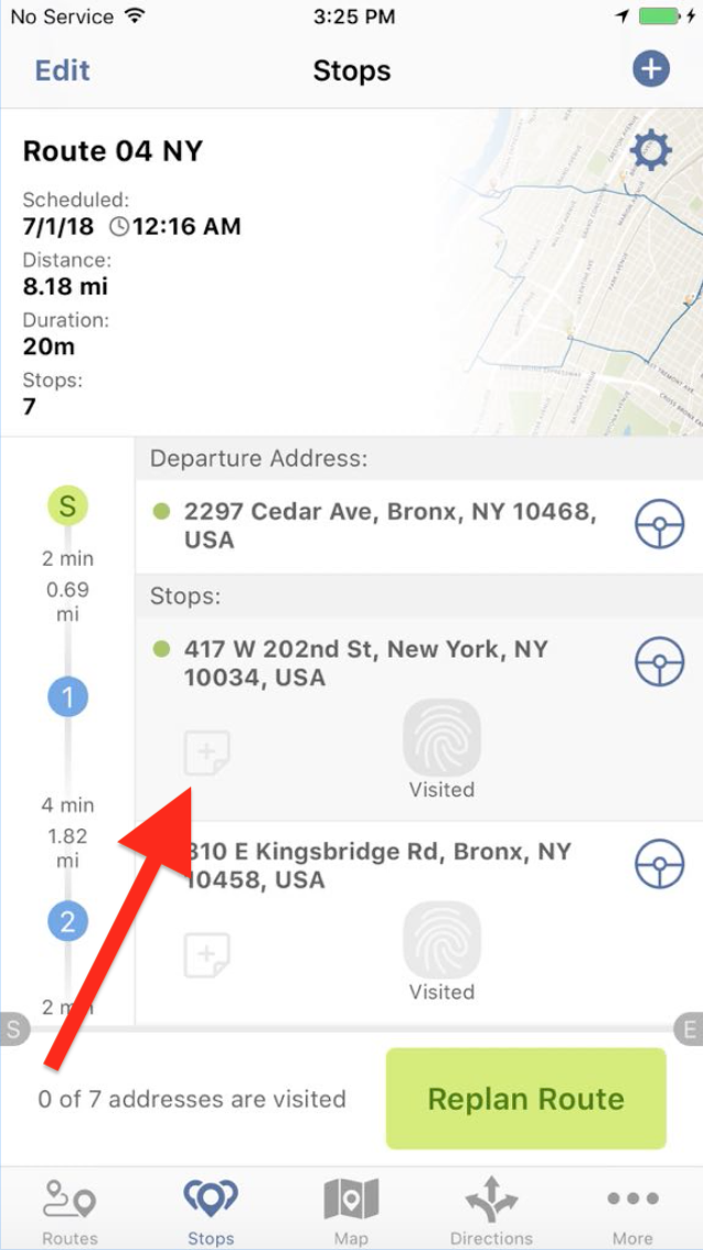 Add Notes to your Stops with Route4Me